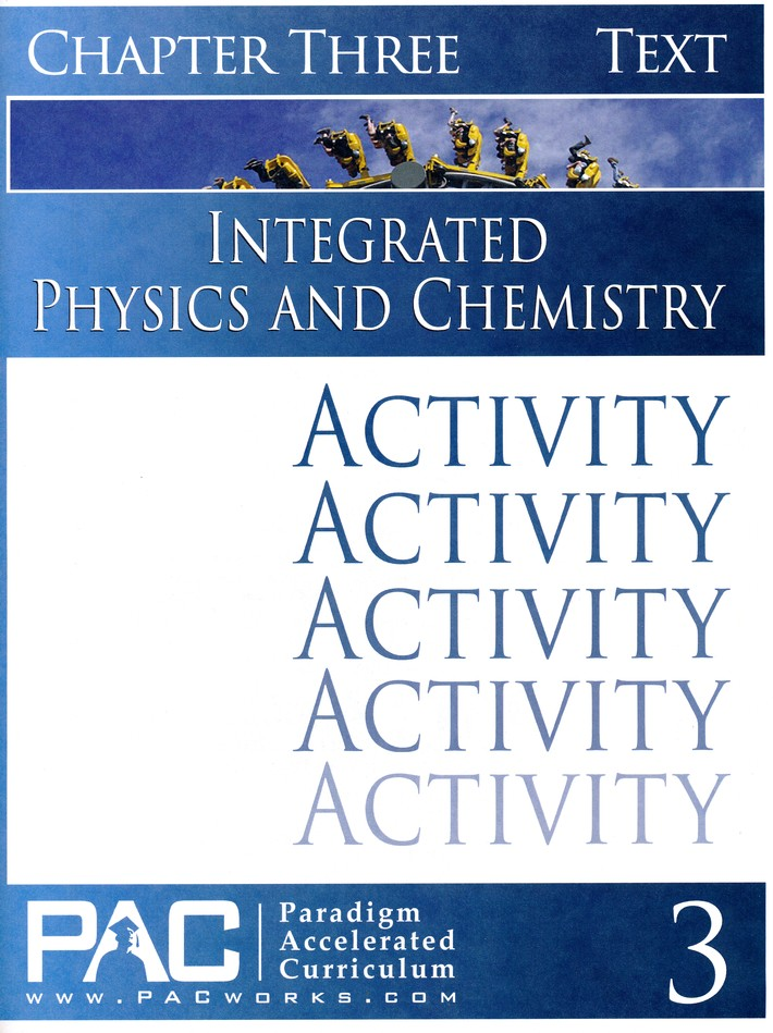 Integrated Physics and Chemistry Activity Booklet, Chapter 3