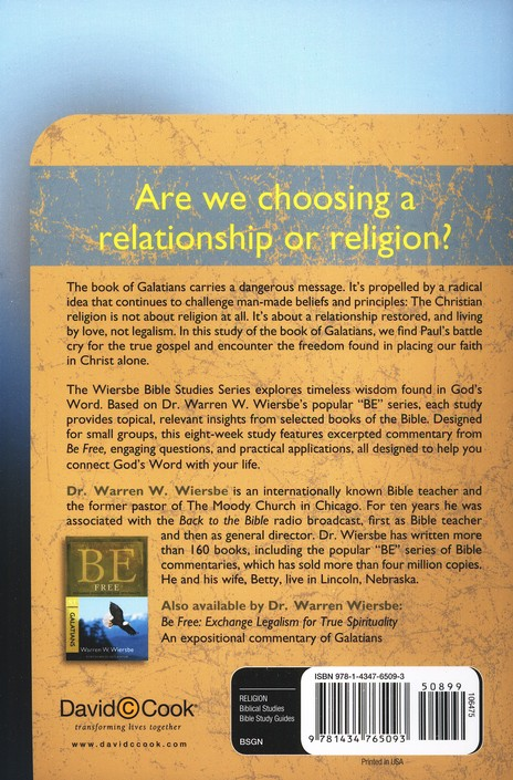 Galatians: The Warren Wiersbe Bible Study Series