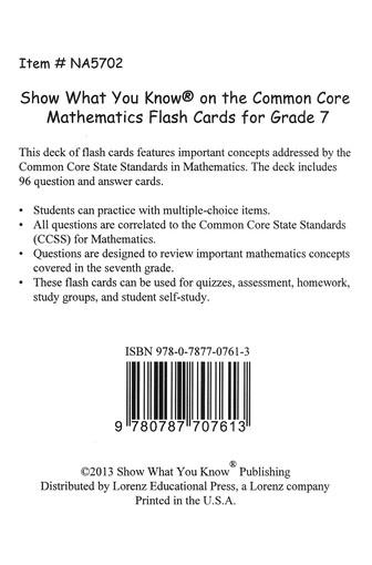 grade 7 common core math test questions
