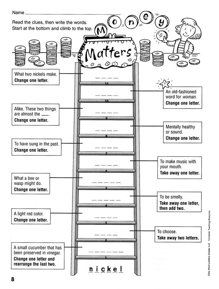 Daily Word Ladders: Grades 4-6