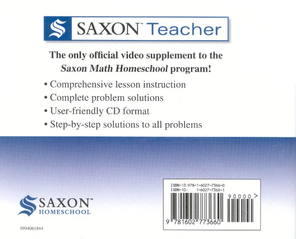 Saxon Teacher for Advanced Mathematics, Second Edition on CD-ROM