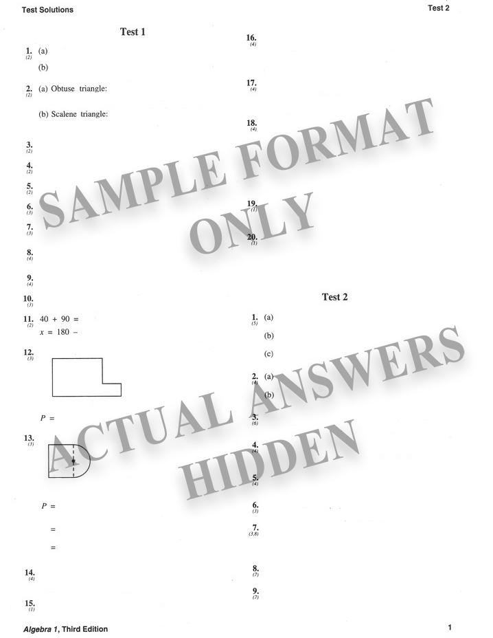 Saxon algebra 1/2 3ed student text only, saxon publishers, 024418.