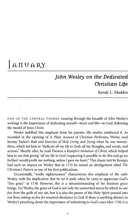 A Year with John Wesley and Our Methodist Values