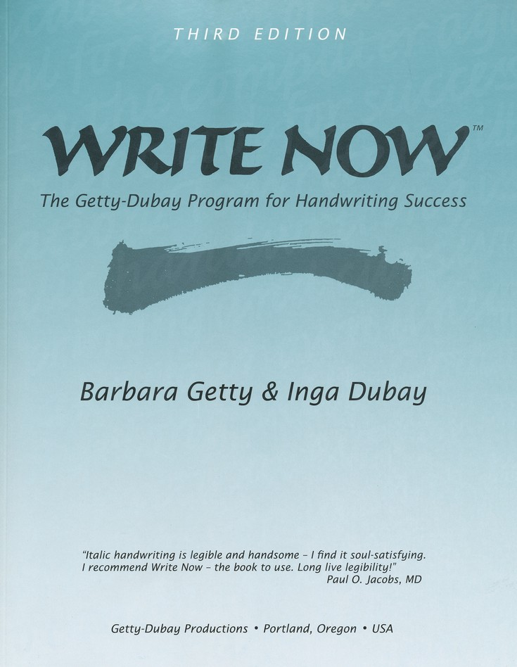 WRITE NOW Getty-Dubay Handwriting Program, 3rd Edition
