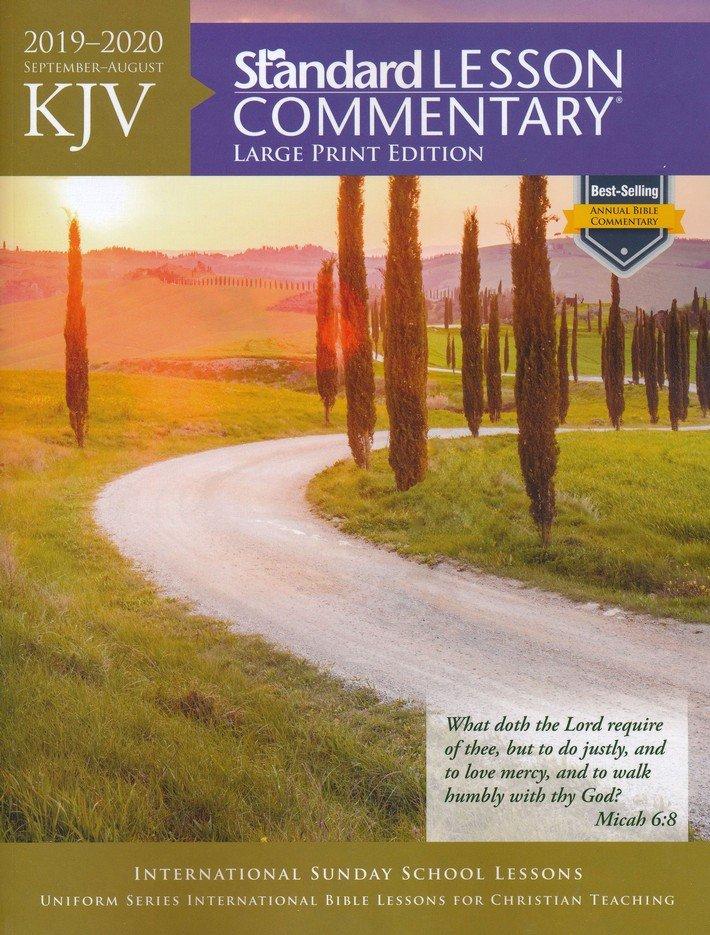 2019-2020 KJV Standard Lesson Commentary, Large-print softcover
