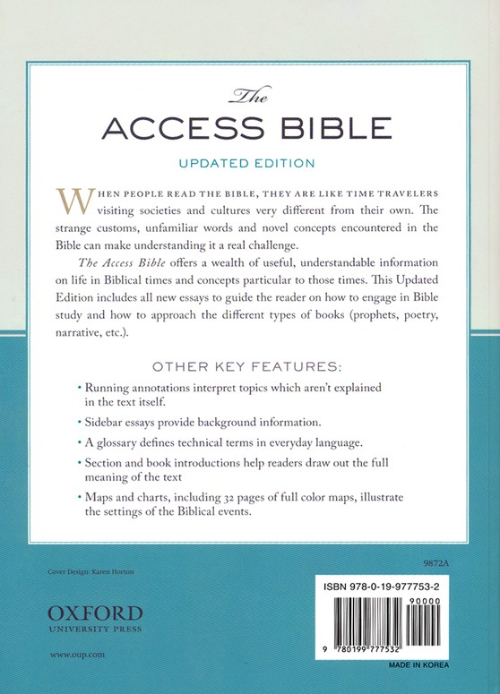 NRSV Access Bible with the Apocrypha, Updated Edition