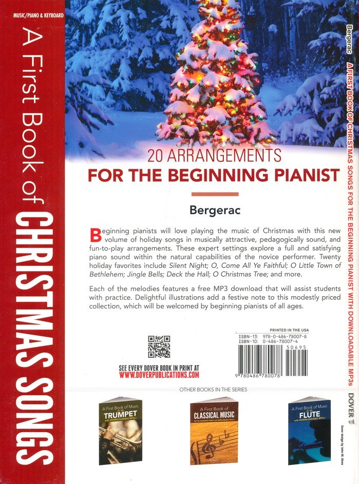 Christmas Music Downloadable.First Book Of Christmas Songs For The Beginning Pianst With Downloadable Mp3
