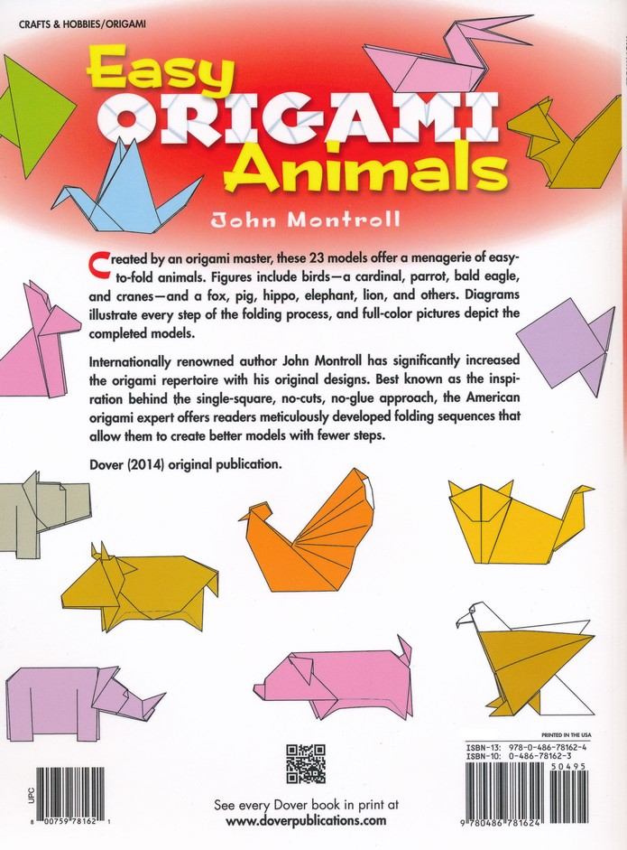 Easy Origami by John Montroll | Waterstones | 941x695