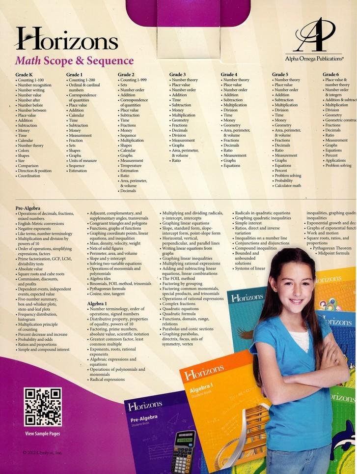 Horizons Math, Grade 4, Complete Set: 9780867178432 - Christianbook com