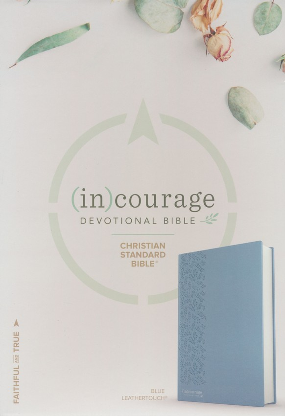 CSB (in)courage Devotional Bible--soft leather-look, blue