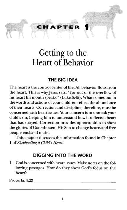 Shepherding a Child's Heart: Parents Handbook