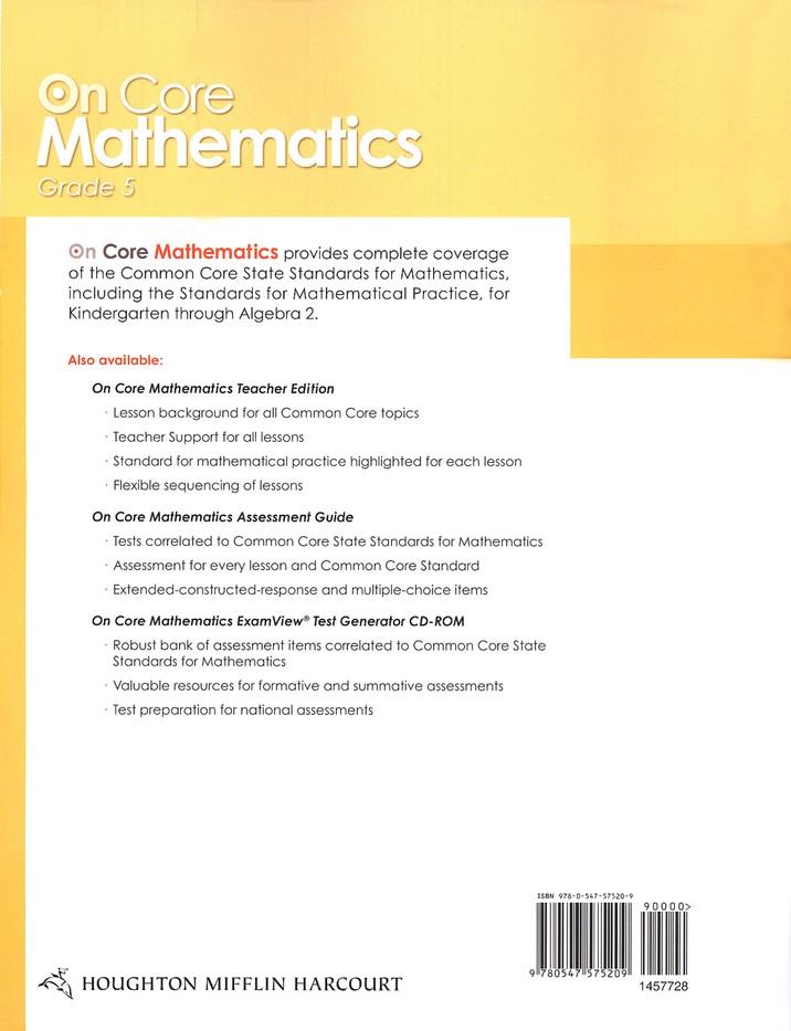 On-Core Mathematics Grade 5 Bundle