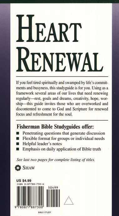Heart Renewal: Finding Spiritual Refreshment Fisherman Bible Studies