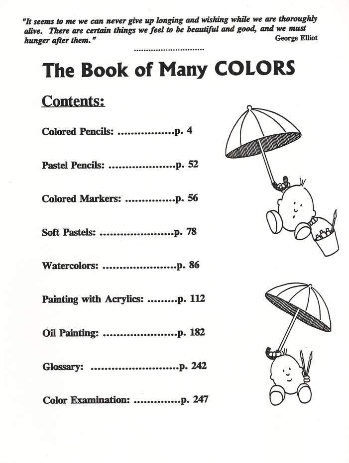 The Book of Many Colors, Text and Paint Cards, Ages 12+