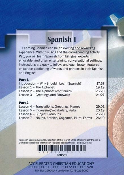 Spanish 1 Vol  1, DVD
