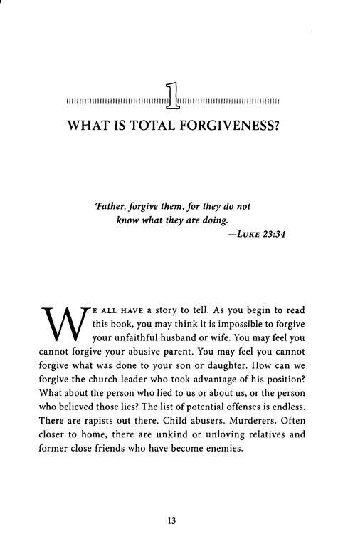 Total Forgiveness, Revised and Updated
