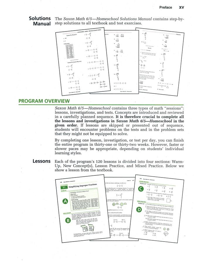 Saxon Math 6 5 3rd Edition Student Text
