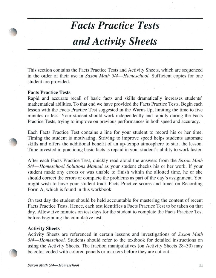 Saxon Math 5/4 Tests and Worksheets, 3rd Edition: 9781591413219 ...