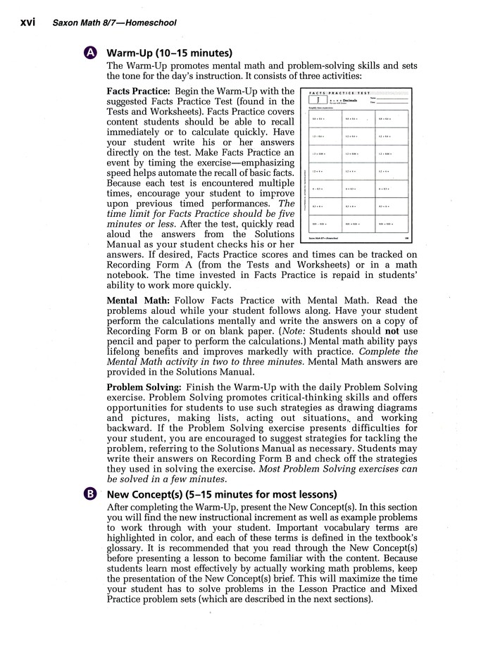 Saxon Math 8/7, Third Edition, Home School Kit in a Retail Box