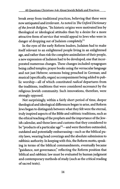 A Thumbnail Sketch of Judaism for Christians - page 5
