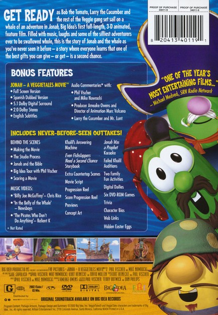 veggietales jonah a veggietales movie soundtrack