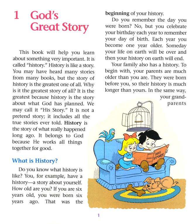 History for Little Pilgrims, Grade 1
