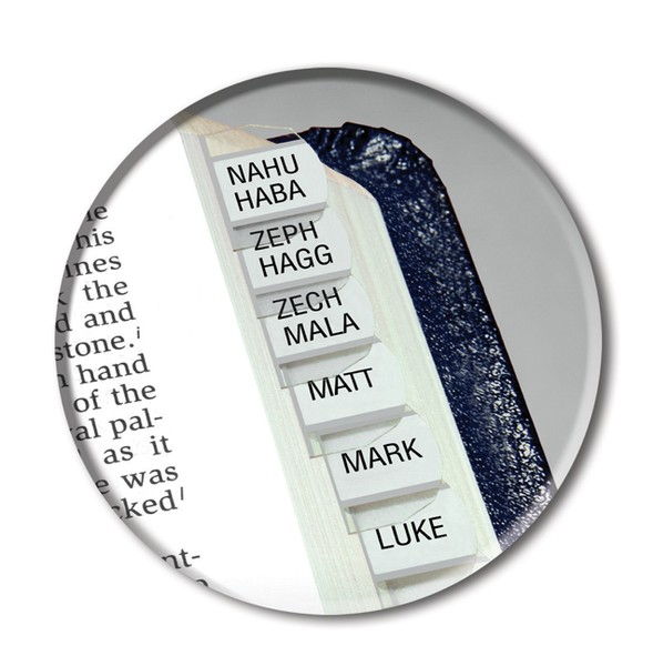 Bible Tabs; Horizontal Silver