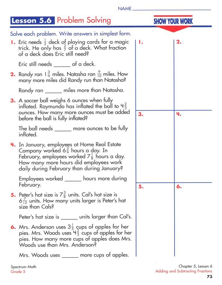 Spectrum Math Grade 5 (2014 Update)