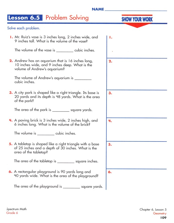 Spectrum Math Grade 6 (2014 Update)