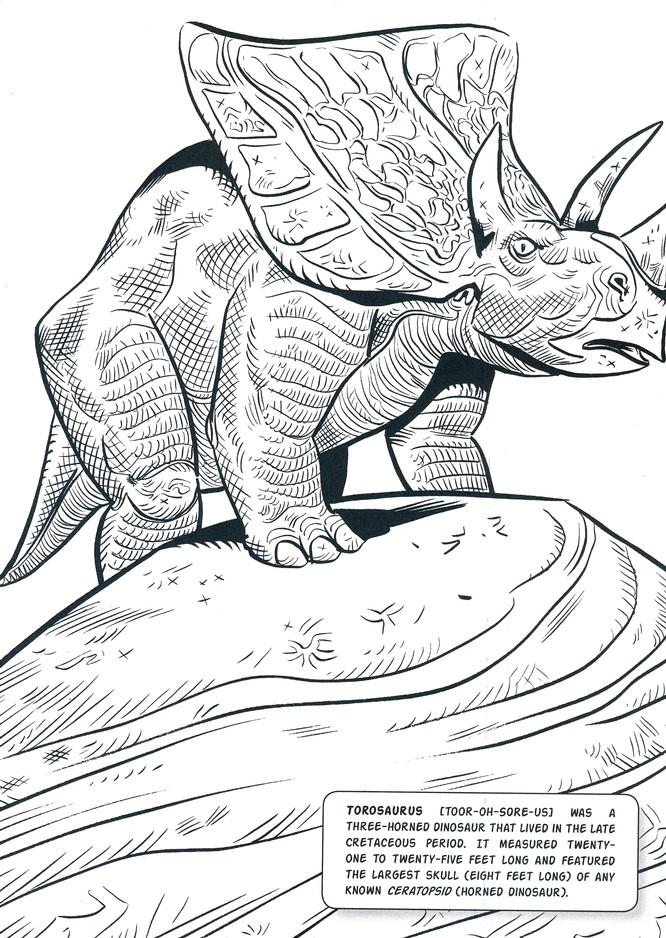 Jim Lawson\'s Dinosaurs Coloring Book