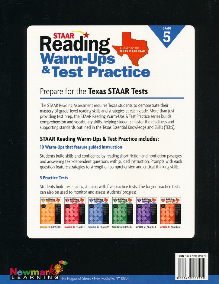 Staar reading warm ups test practice grade 5 9781478807414 staar reading warm ups test practice grade 5 9781478807414 christianbook fandeluxe