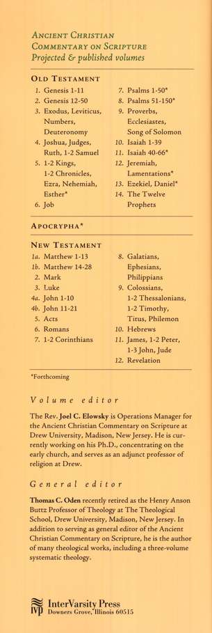 John 11-21: Ancient Christian Commentary on Scripture [ACCS]