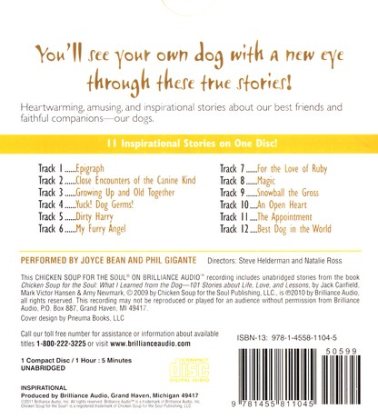 Chicken Soup for the Soul: What My Dog Taught Me about Unconditional Love -  unabridged audiobook on CD