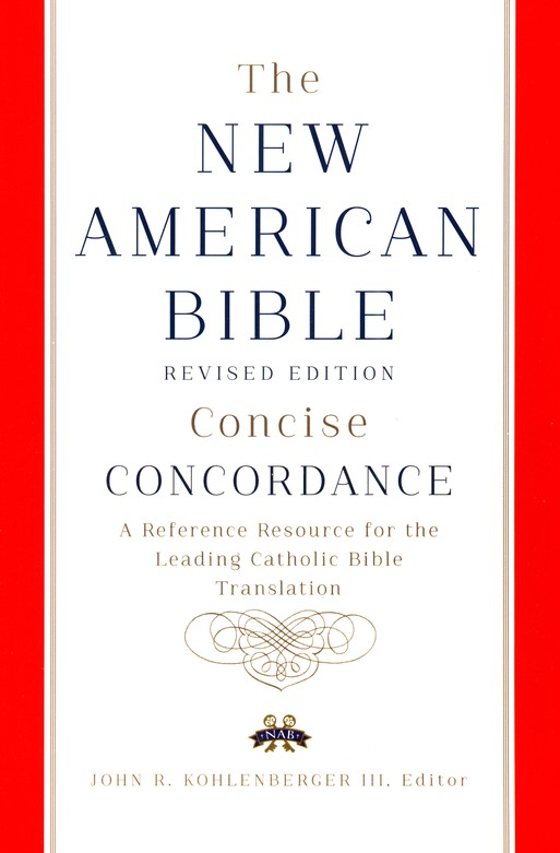 The New American Bible, Concise Concordance, Hardcover, Revised Edition