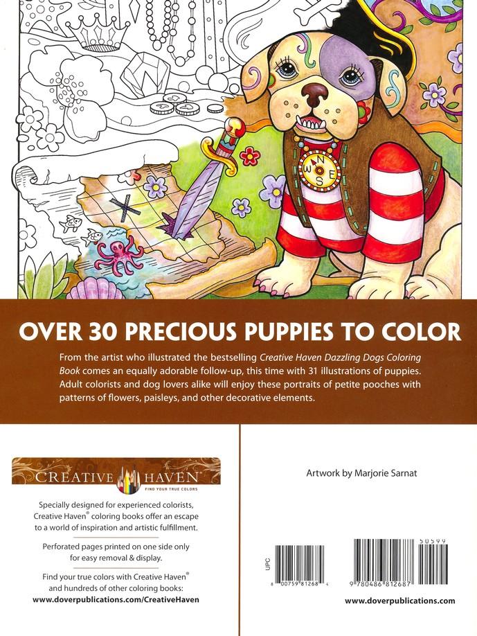Playful Puppies Coloring Book Marjorie Sarnat 9780486812687