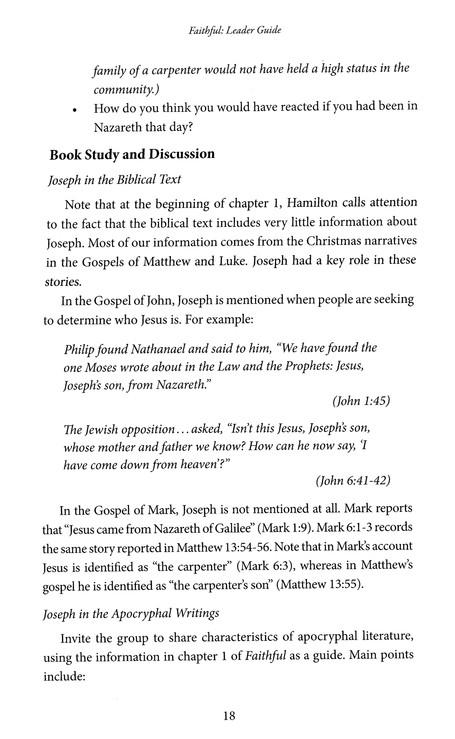 Faithful: Christmas Through the Eyes of Joseph - Leader Guide