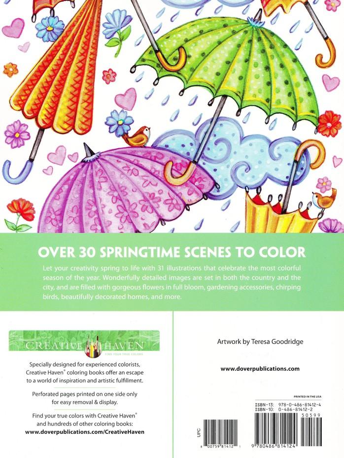 Spring Scenes Coloring Book Teresa Goodridge 9780486814124