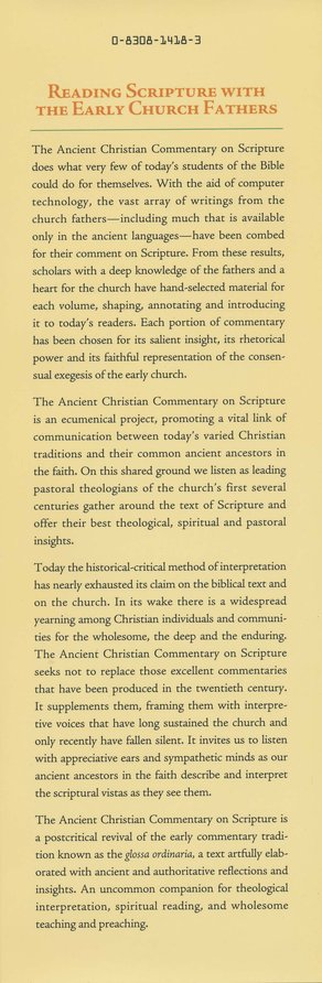 Mark, Second Edition: Ancient Christian Commentary on Scripture [ACCS]