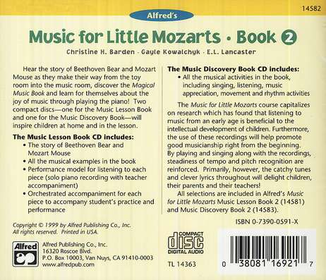 Music For Little Mozarts, CDs for Level 2