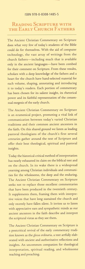 Apocrypha: Ancient Christian Commentary on Scripture [ACCS]