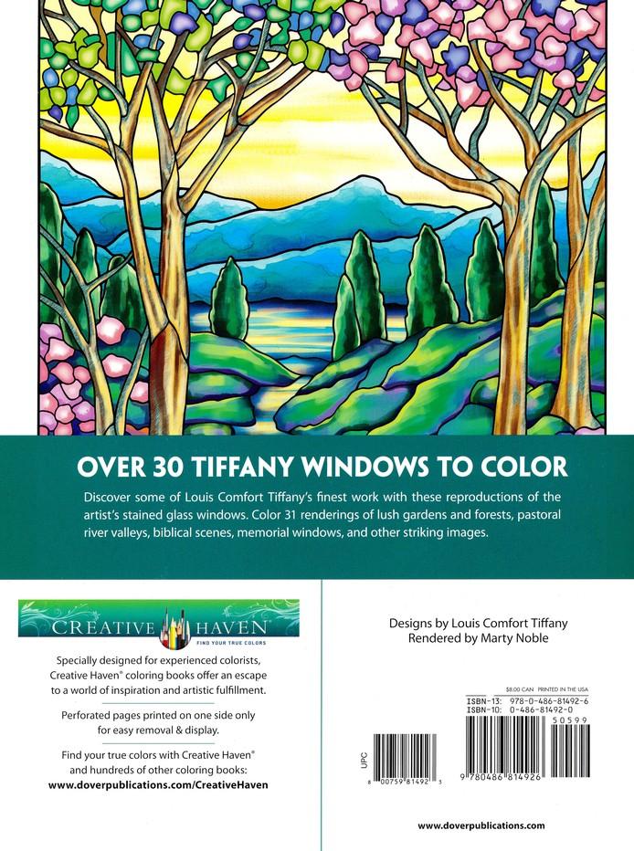 Tiffany Windows Coloring Book