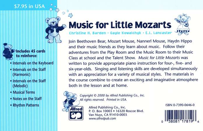 Music for Little Mozarts, Flash Cards for Book 3