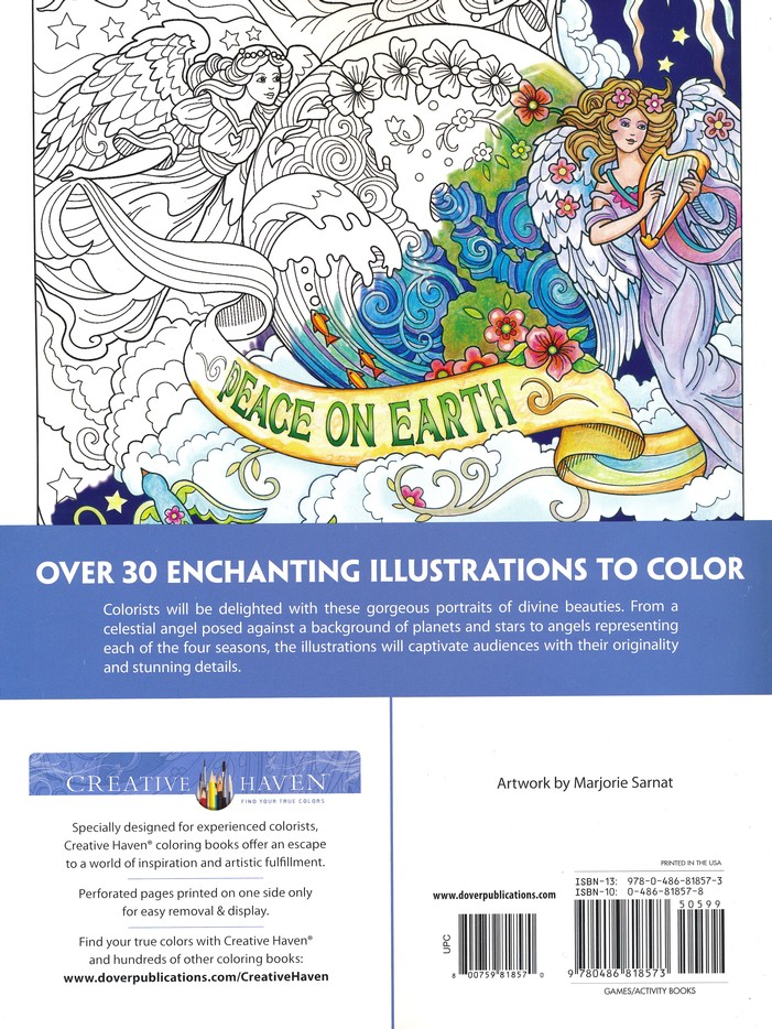 Beautiful Angels Coloring Book Marjorie Sarnat 9780486818573