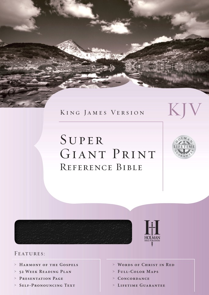 KJV Super Giant Print Reference Bible, Bonded leather, Black Thumb-Indexed