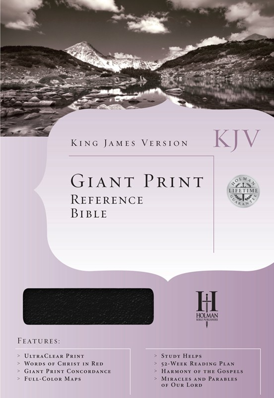 KJV Giant-Print Reference Bible, Imitation leather, black