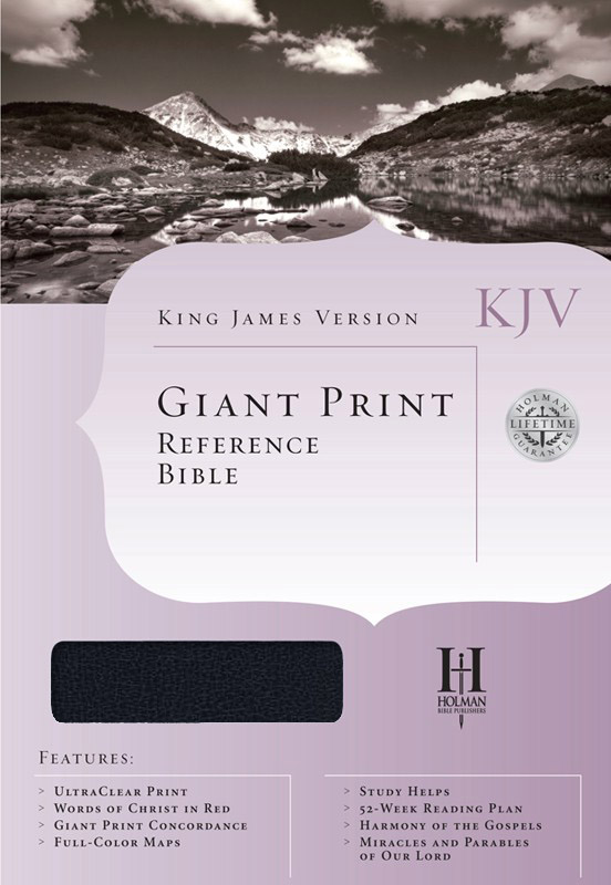 KJV Giant-Print Reference Bible, Imitation leather, blue