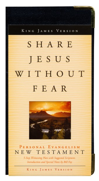 KJV Share Jesus Without Fear, New Testament, Bonded Leather, Black