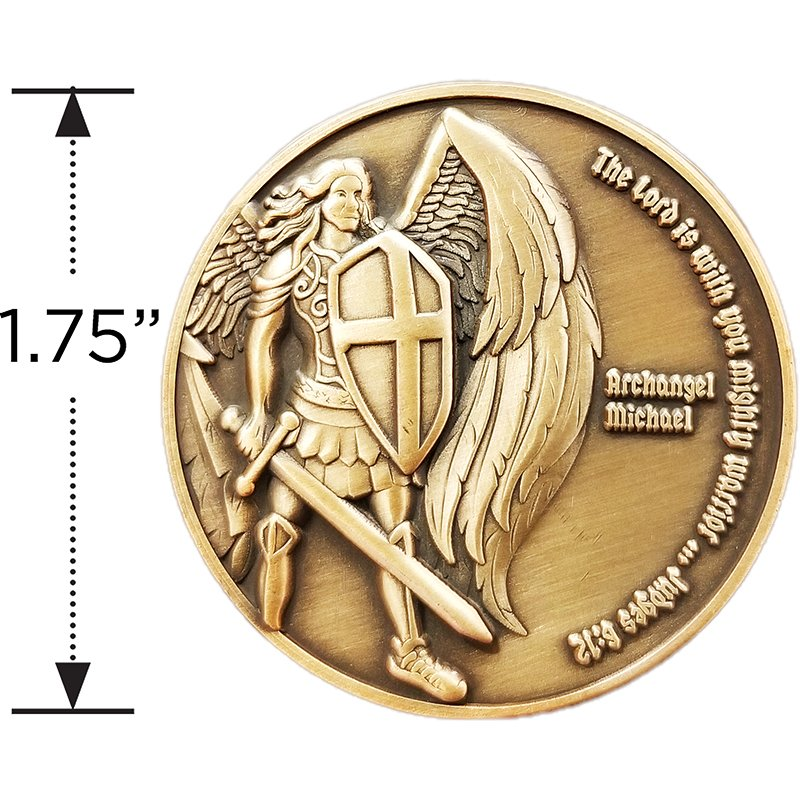 3 Coins Forge Saint Michael The Archangel Psalms 91:10 Challenge Coin Value Pack