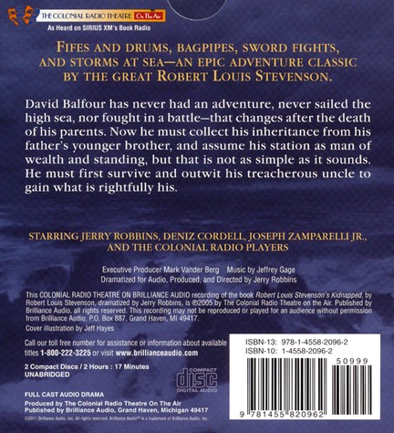 Robert Louis Stevenson's Kidnapped: A Radio Dramatization on CD