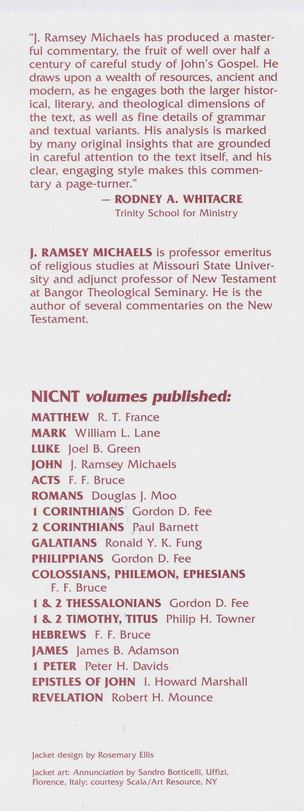 The Gospel of John: New International Commentary on the New Testament [NICNT]